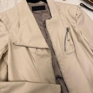 Blank NYC vegan leather motorcycle jacket.